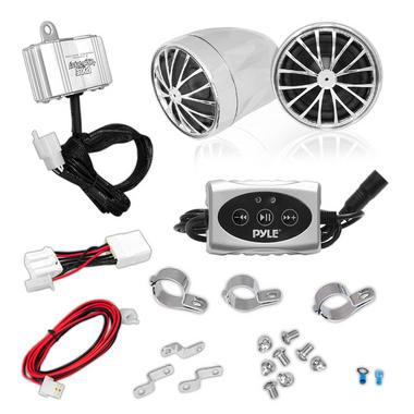 Pyle PLMCA31BT 400w Motorcycle WeatherProof Bluetooth Speakers Amplifier System Thumbnail 2