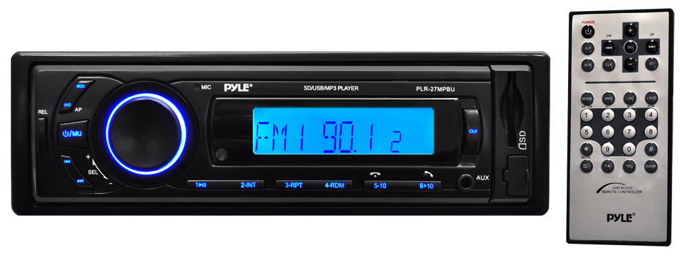Pyle PLR27MPBU Car Stereo Radio AM/FM SD/USB/MP3/AUX Bluetooth Wireless & Remote