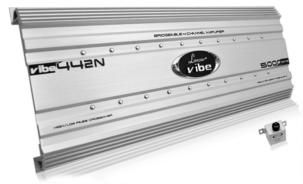Lanzar VIBE442N Vibe 5000 Watts 4 Channel Mosfet Amplifier