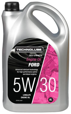 Technolube ATF005 5W-30 Ford Fully Synthetic 5 Litre Engine Oil Thumbnail 1