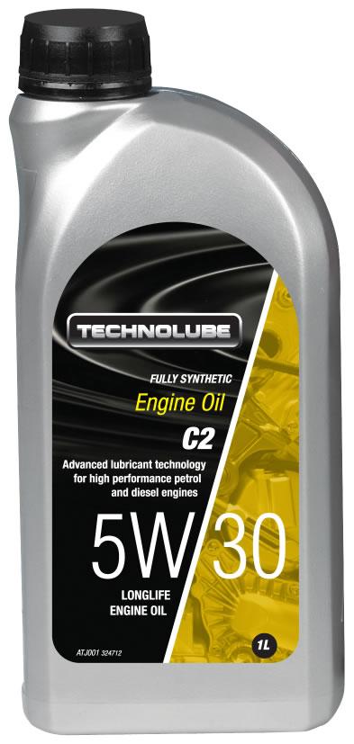 Technolube ATJ001 5W-30 C2 Citroen Peugeot Volvo Fully Synthetic 1 Litre Engine Oil