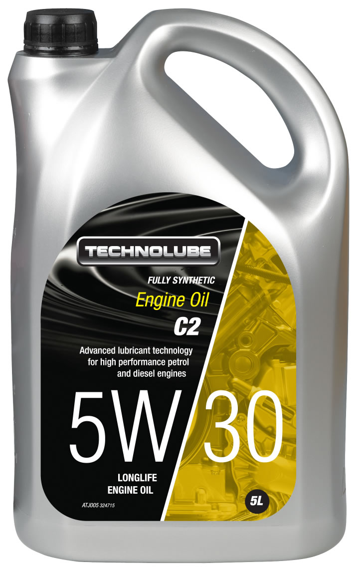 Technolube ATJ005 5W-30 C2 Citroen Peugeot Volvo Fully Synthetic 5 Litre Engine Oil