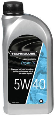 Technolube ATH001 5W-40 Car Van Fully Synthetic 1 Litre Engine Oil Thumbnail 1