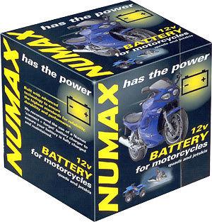 Numax YB12ALA2 12v Motorbike Motorcycle Battery YB12AL-A YB12AL-A2 12N12A-4A-1 Thumbnail 1