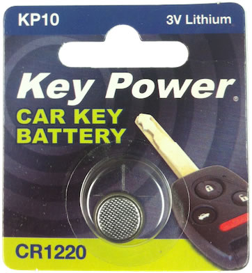Key Power cr1220 Car Alarm Fob Battery Replacement Long Life Single