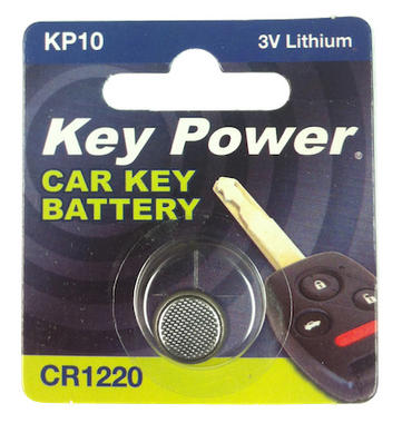 Key Power cr1220 Car Alarm Fob Battery Replacement Long Life Single Thumbnail 2