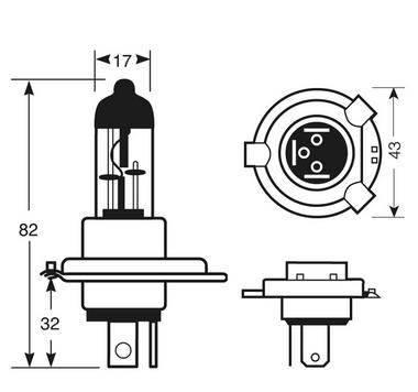 Ring Automotive RW4472 12V 55W 472 H4 +30% 4400K Xenon Star+ Headlight Bulbs Pair Thumbnail 2
