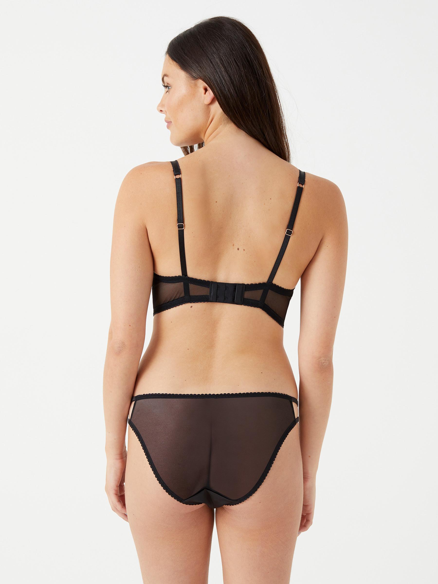 a1fe667744a6b Lipsy Womens Amara Bra Floral Lace Longline Underwire Sexy Lingerie  Underwear