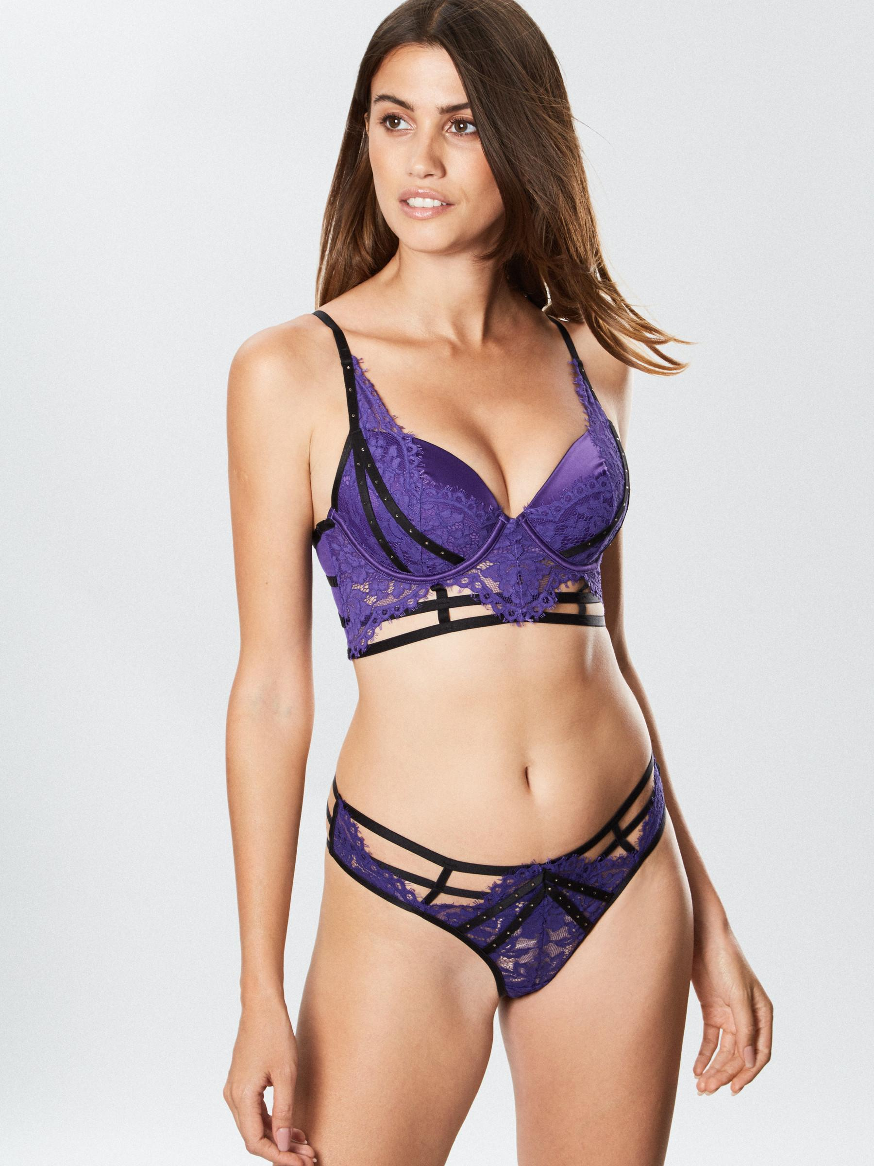 3e0382434b0fe Details about Ann Summers Womens Esmerelda Longline Plunge Bra Wired Sexy  Lingerie Underwear
