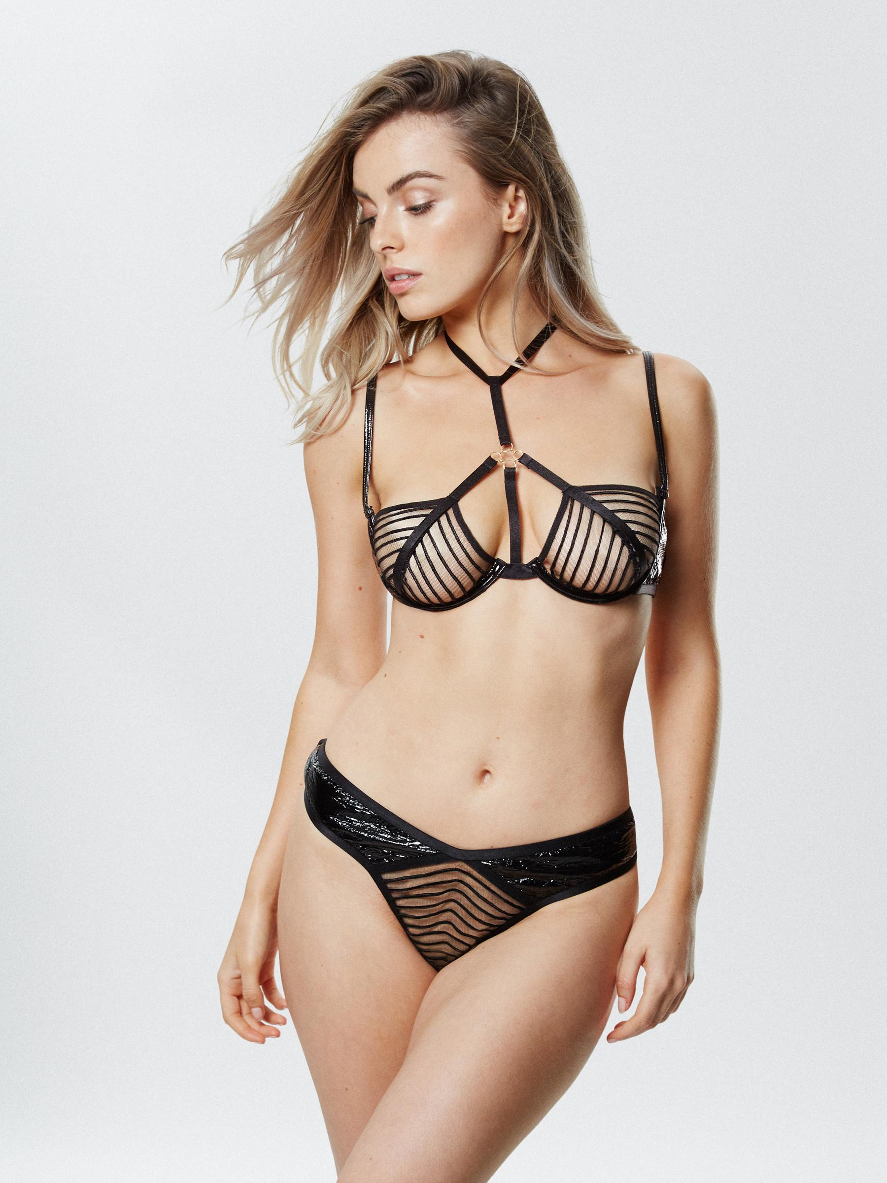 c690687661 Details about Ann Summers Womens Kleo Non Padded Bra Mesh Harness Sexy  Lingerie Underwear