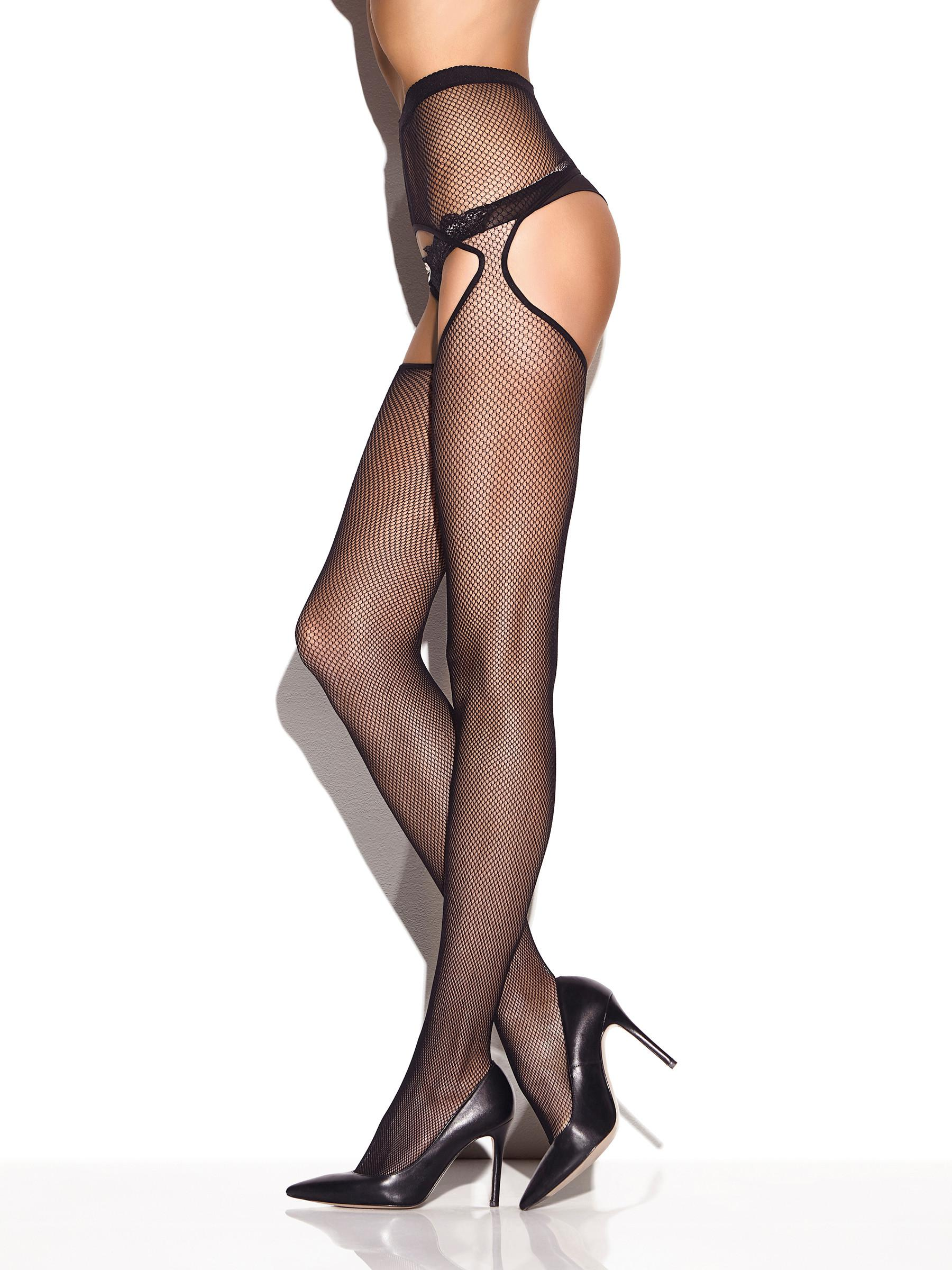Ann Summers Womens Crotchless Fishnet Tights Bumless Sexy Lingerie Hosiery