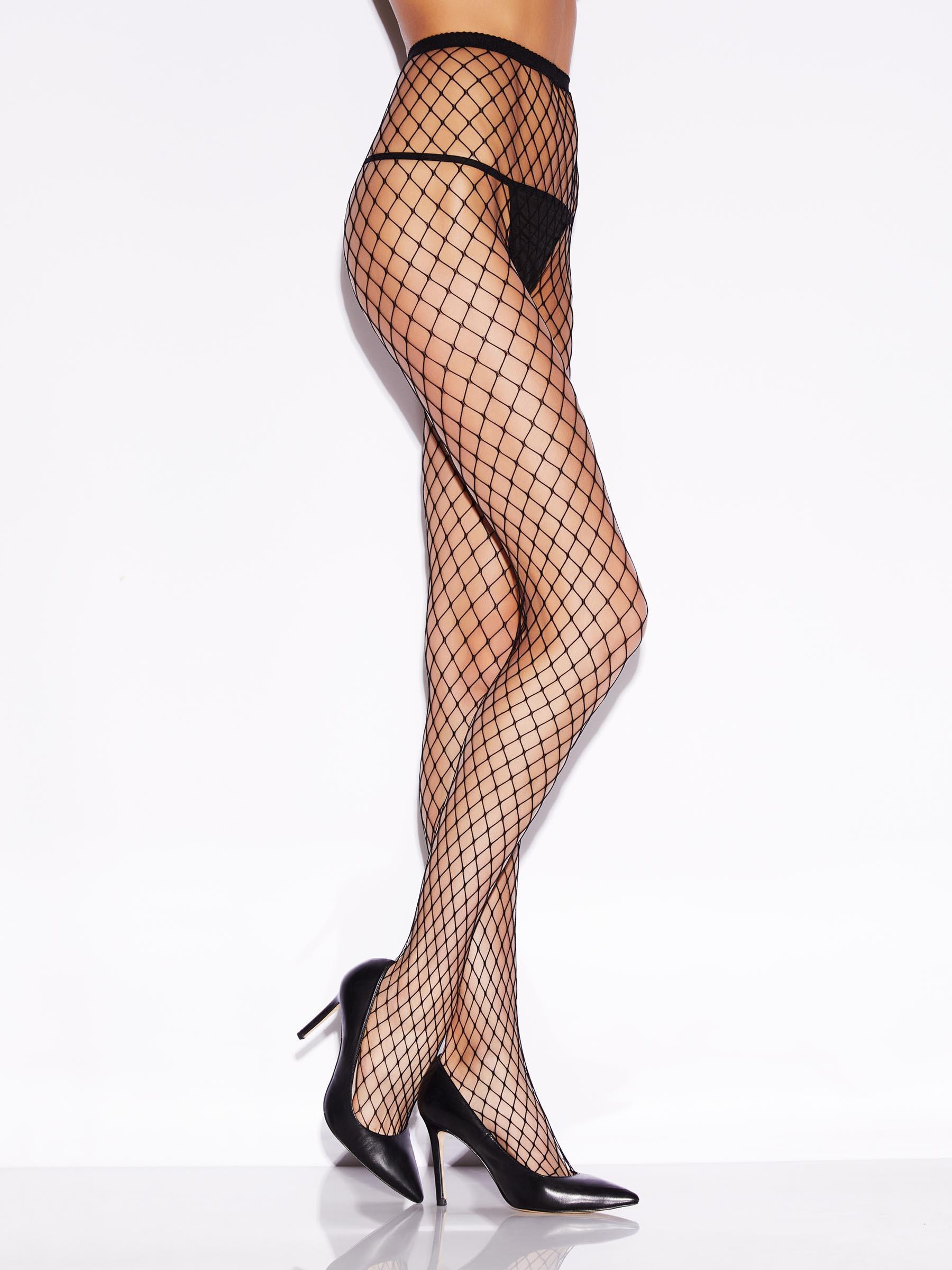 344619da3cc812 Details about Ann Summers Womens Fishnet Tights Semi-Sheer Fishnet Sexy  High Waist Hosiery