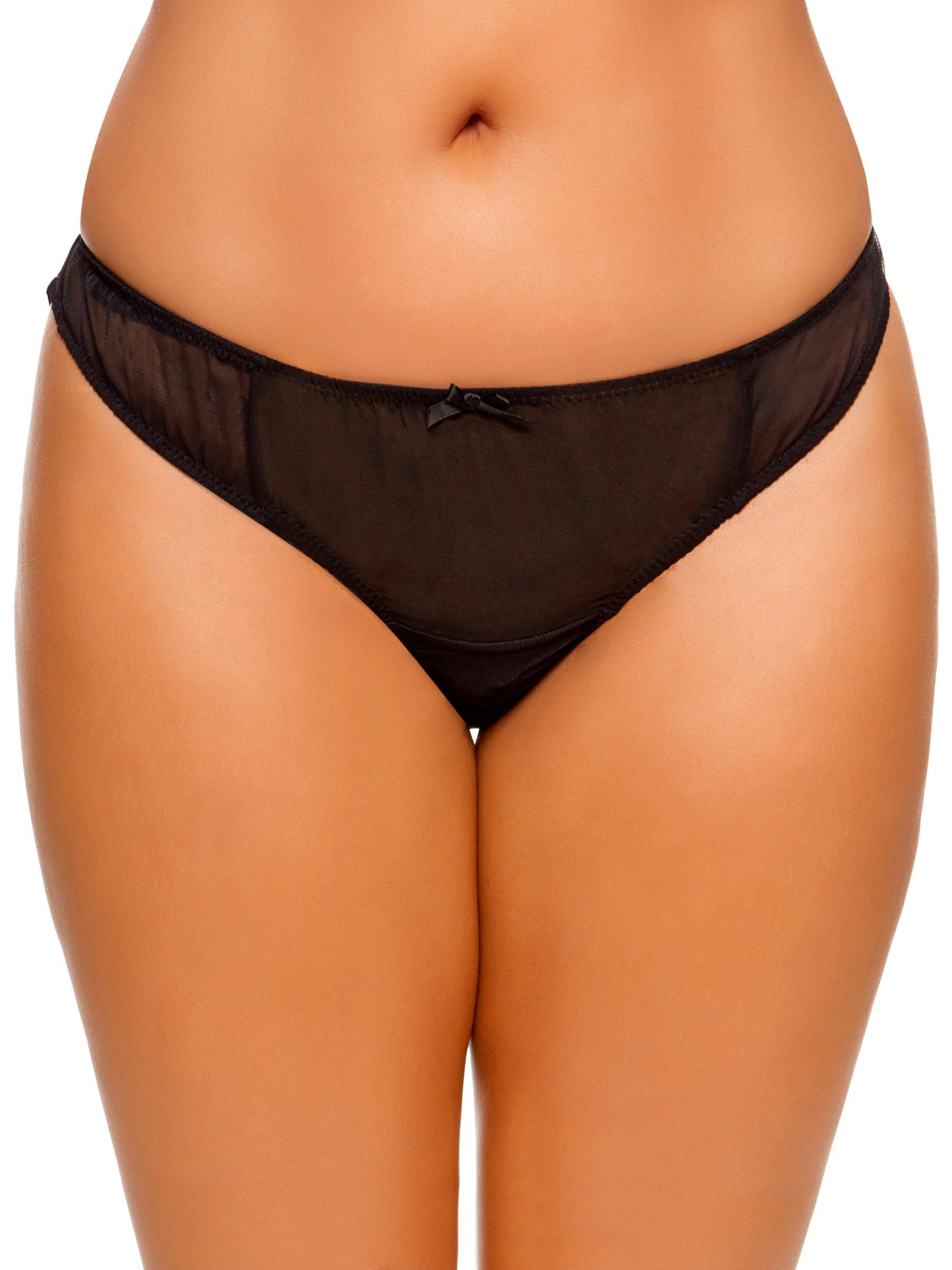 Panties Trustful Ann Summers Veena High Waist Crotchless Brief With Choker Black 10 12 New Tags