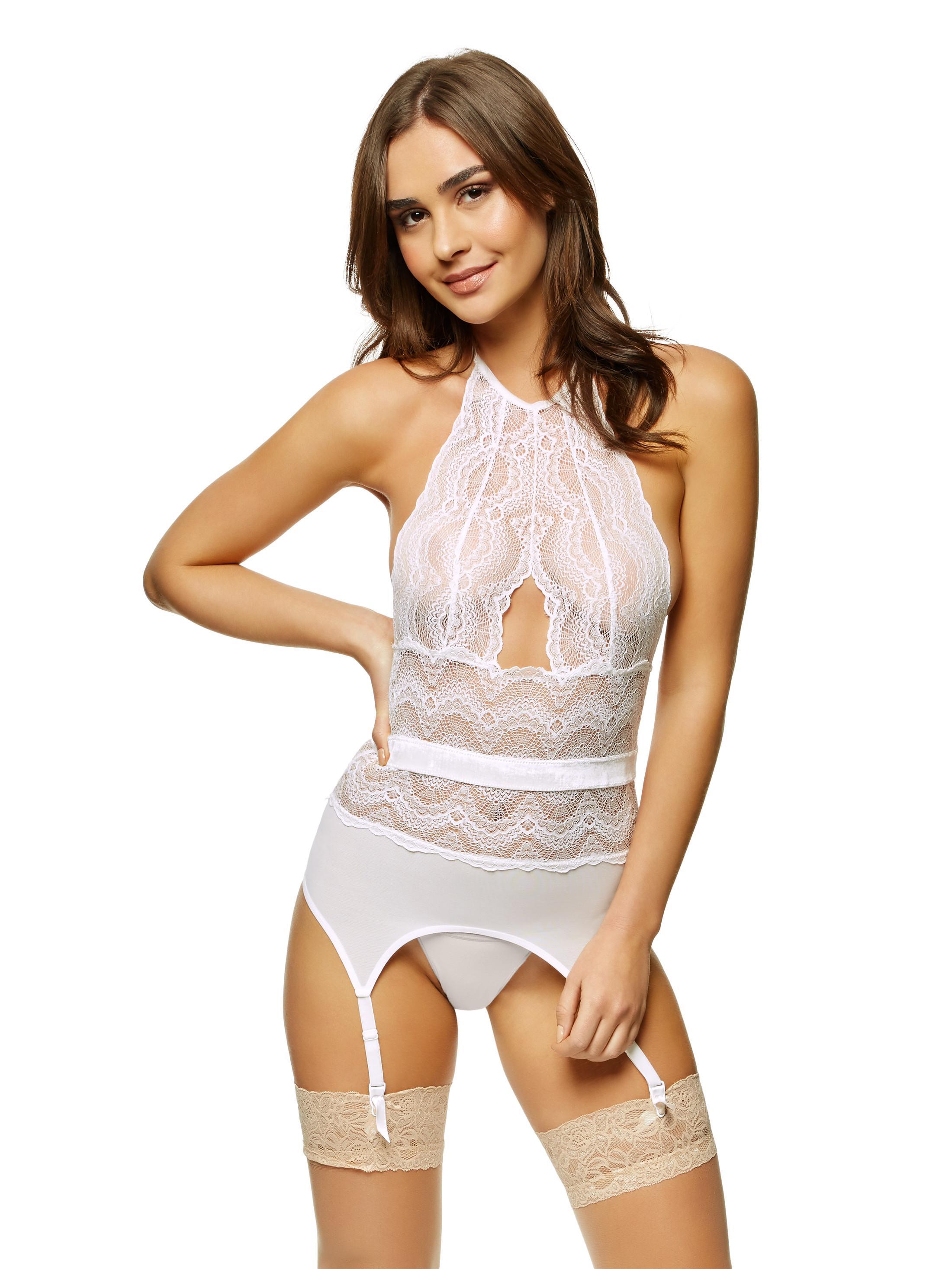 f4dc6f37fc Details about Ann Summers Womens Darrah Cami Suspender High Neck Sexy  Lingerie Underwear