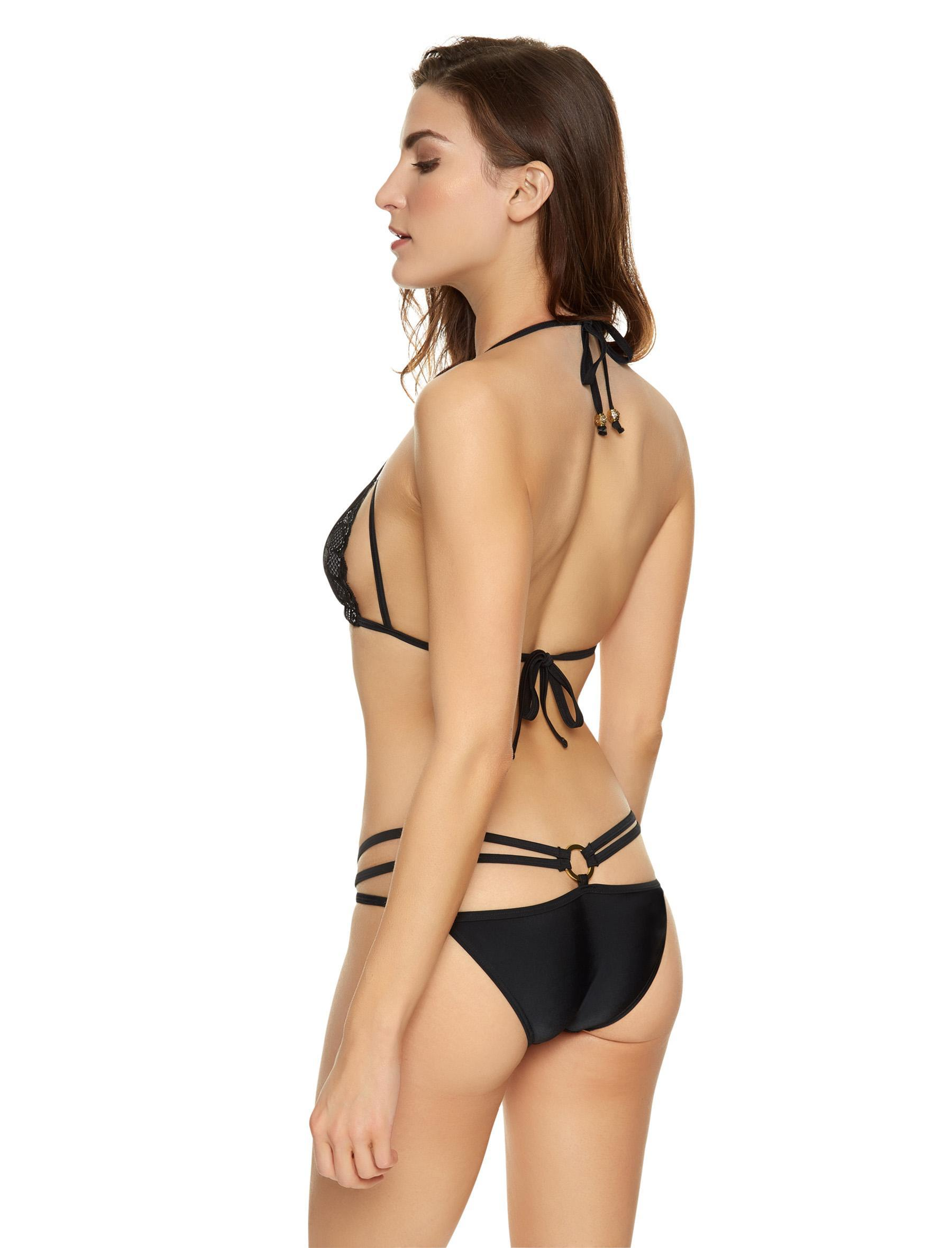 0c7a205a80 Ann Summers Womens Mai Lace Bikini Top Black Nude Sexy Swimwear Beachwear