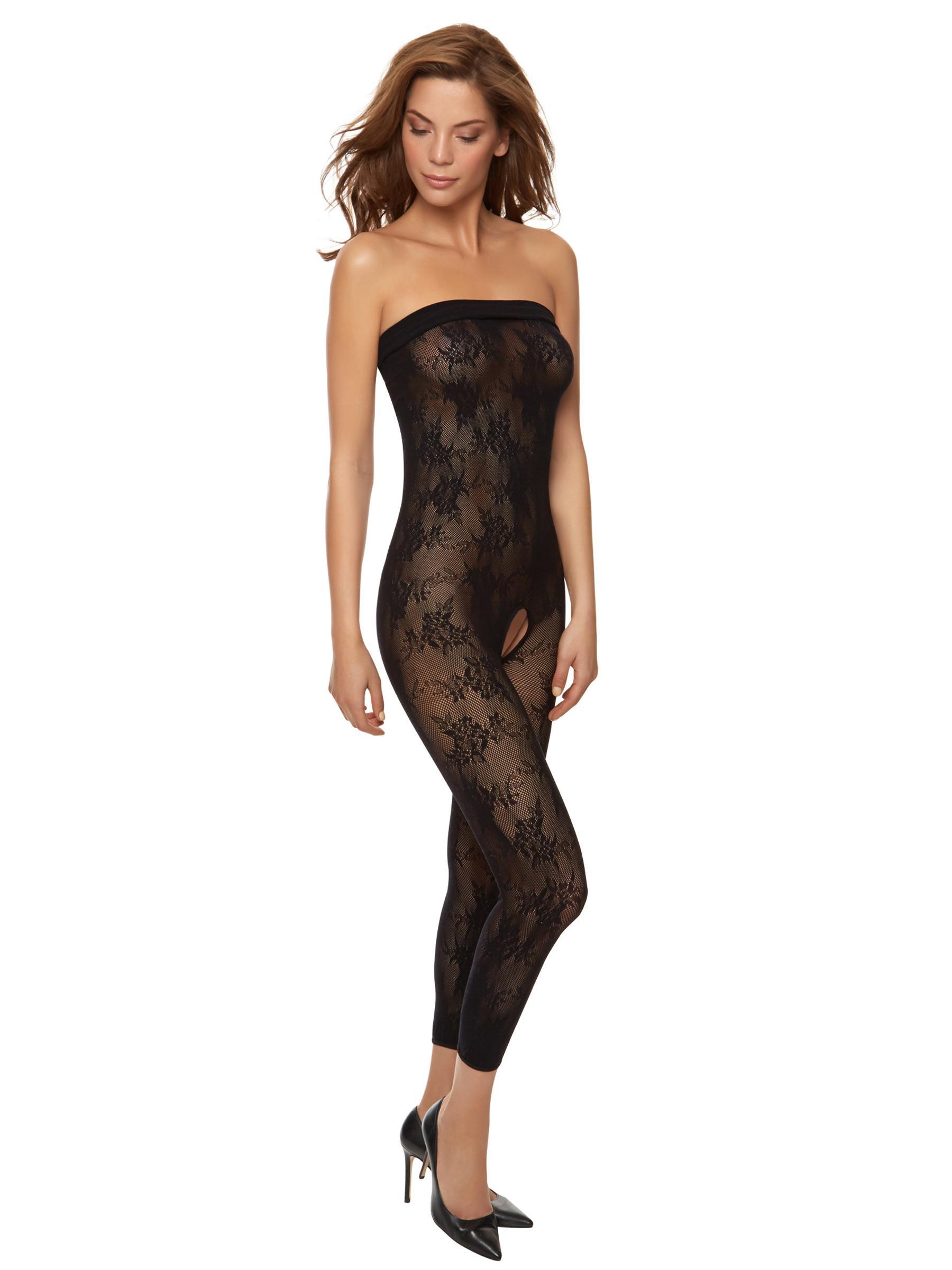 07207bdc5ab Ann Summers Womens Tyra Reversible Bodystocking Black Sexy Lingerie  Underwear