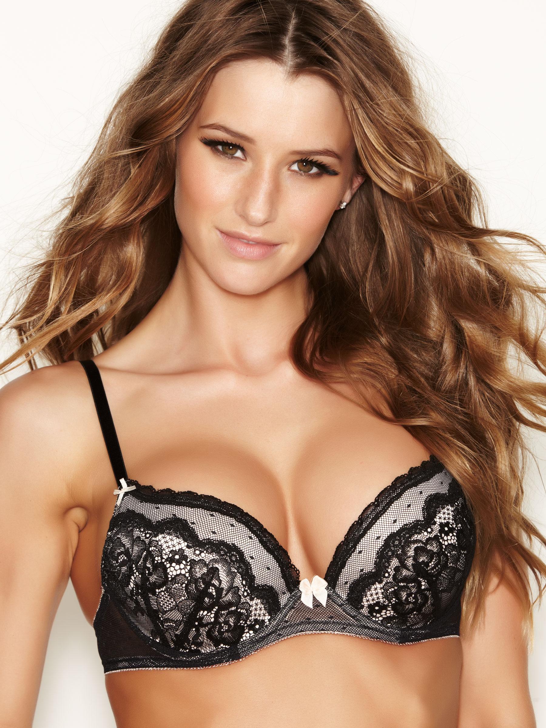 ef40cc482eb Ann Summers Womens Sexy Lace Black Padded T-Shirt Bra Underwear Erotic  Lingerie