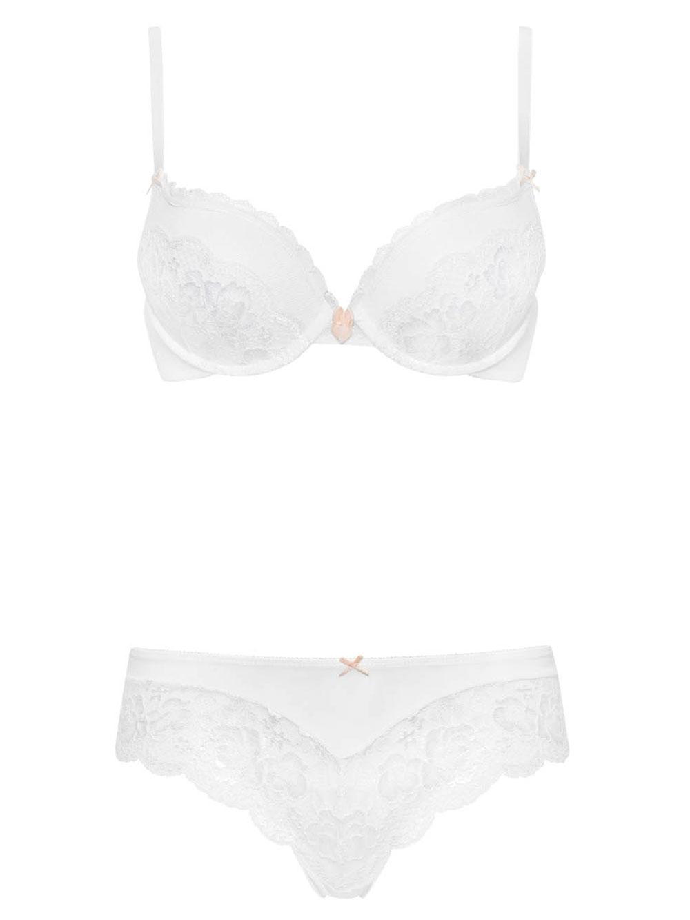 a814f82611 Ann Summers Womens Sexy Lace White Plunge Bra Hot Seductive Lingerie  Underwear