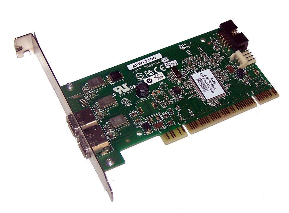 HP 354614-003 2-Port PCI Firewire Controller Card | SPS 393308-001 Std Profile Thumbnail 1