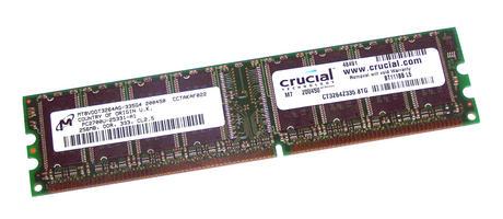 Crucial CT3264Z335.8TG (256MB DDR PC2700U 333MHz DIMM 184-pin) RAM Module
