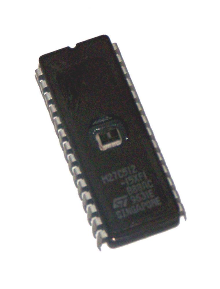 STMicroelectronics M27C512-15XF1 512KBit 150nS FDIP28W EPROM IC