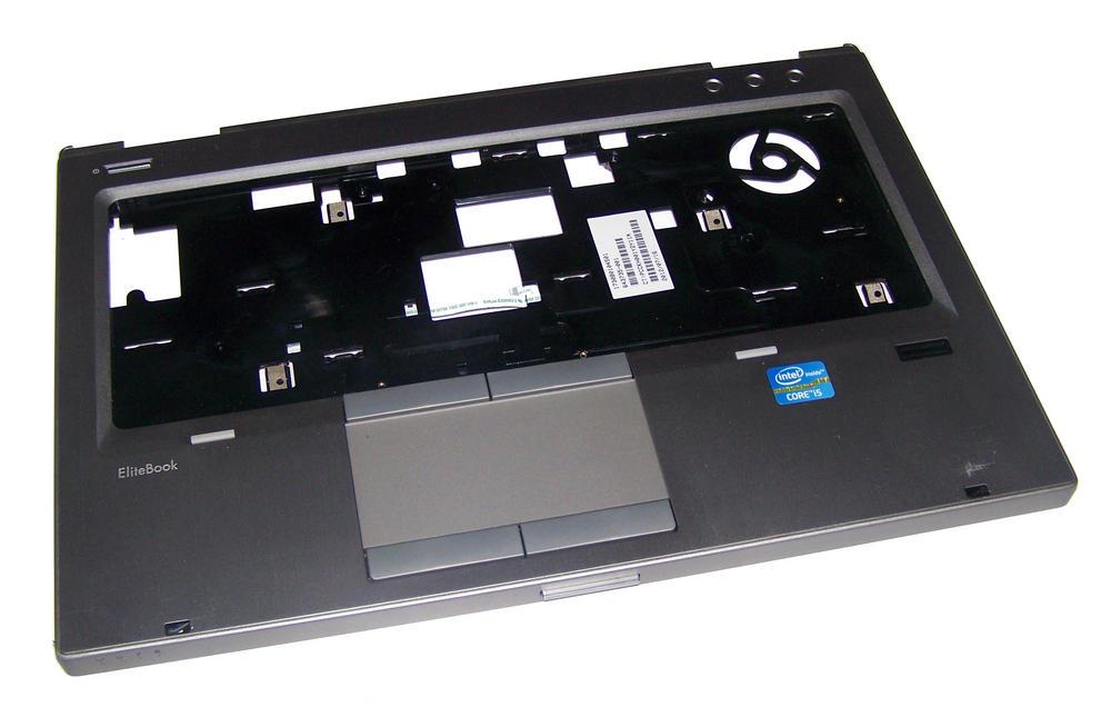 HP 643735-001 EliteBook 8460p Palmrest with Trackpad inc Fingerprint Reader Thumbnail 1