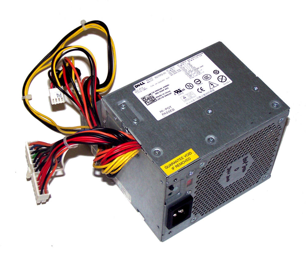 Dell M619F OptiPlex 380 model DCNE1F 235W Power Supply (Small Desktop) | 0M619F  Thumbnail 1