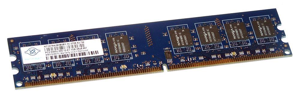 Nanya NT1GT64U8HB0BY-3C (1GB DDR2 PC2-5300U 667MHz DIMM 240-pin) Memory Module