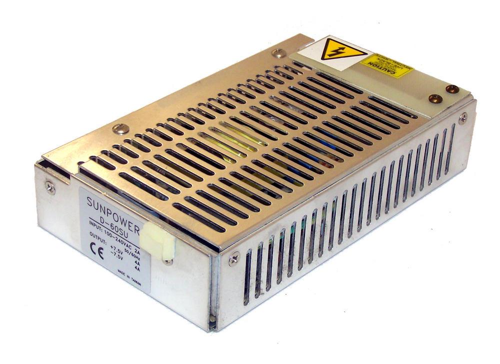 Sunpower D-60SU 7.5VDC@4A / -7.5VDC@4A 1U Open Frame Power Supply