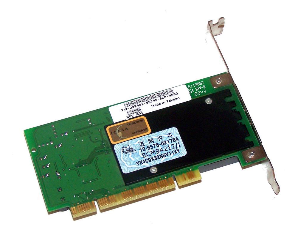Dell 9R461 PCI Broadcom 56K Modem Card  | Standard Profile Bracket 09R461 Thumbnail 2