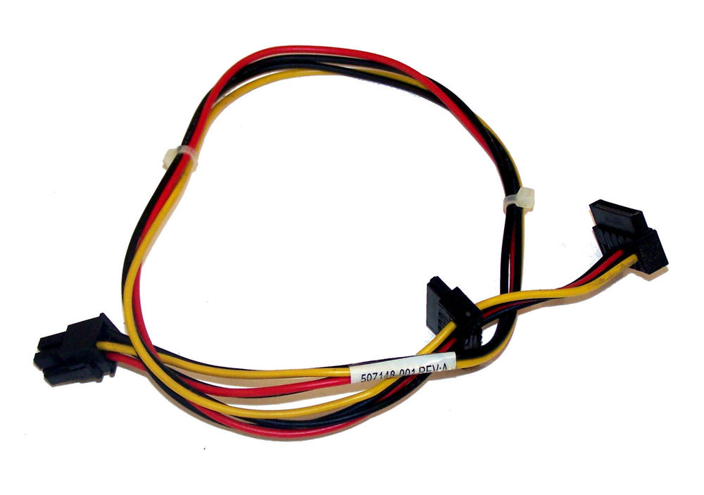 HP 507148-001 Pro 6000 Microtower 2X SATA Power Cable for Hard Disks