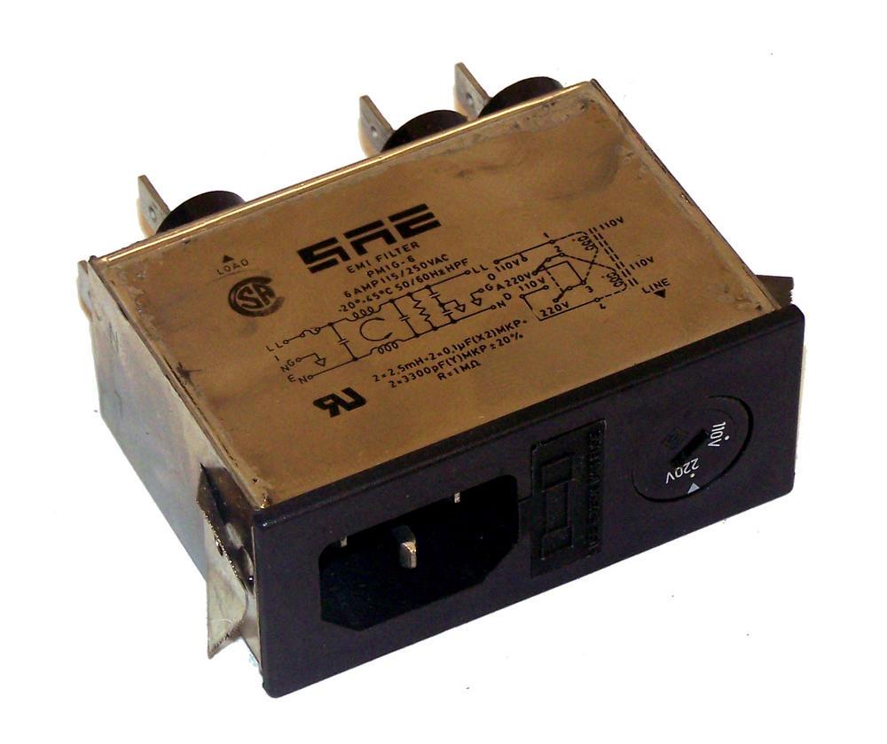 SAE PM1G6 IEC320 IEC C14 115/250VAC 50/60Hz 5A EMI Filter | PM1G-6 Thumbnail 1