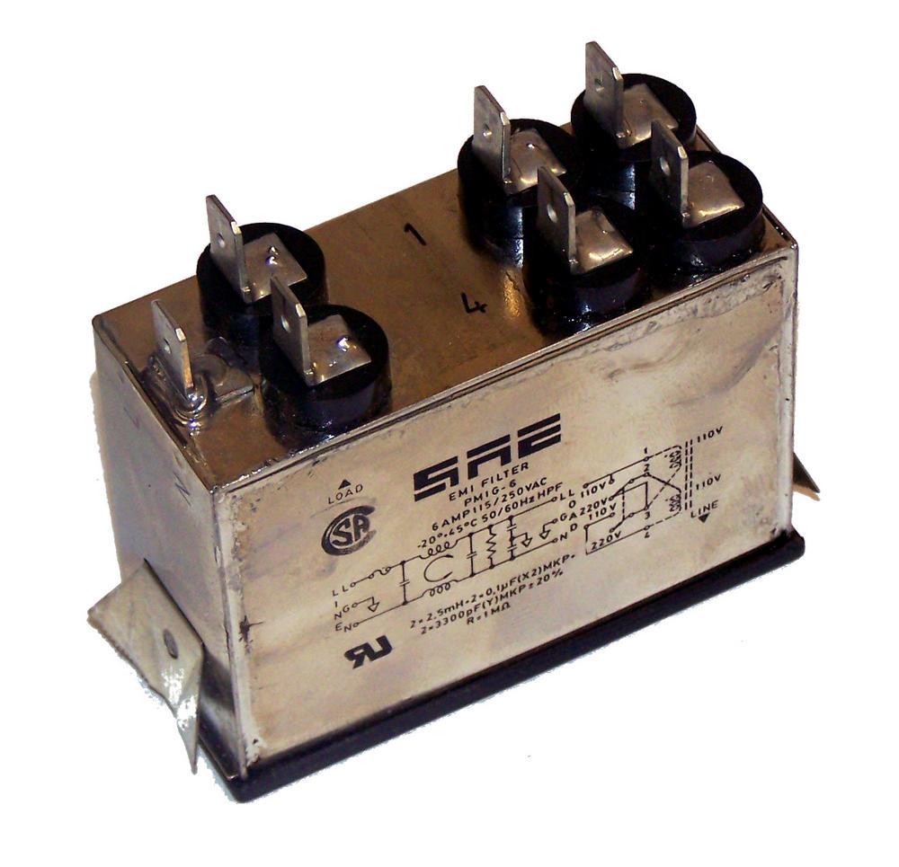 SAE PM1G6 IEC320 IEC C14 115/250VAC 50/60Hz 5A EMI Filter | PM1G-6 Thumbnail 2