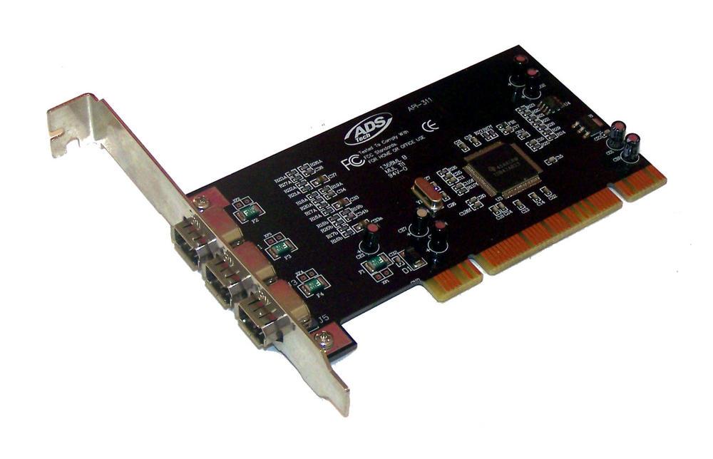 ADS API-311 1394DV 3-Port PCI Firewire Controller Card |Standard Profile Bracket