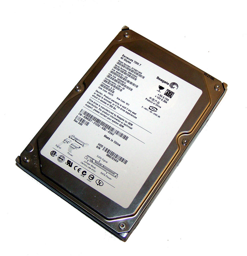 "Dell 2M327 Seagate ST340014AS 40GB 7.2K 3.5"" SATA HDD 
