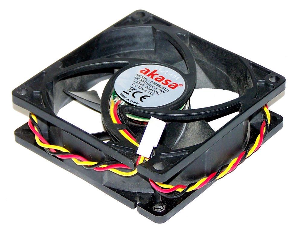 Akasa DFS802512L 80mm Case Fan   3-Pin 12VDC 0.14A