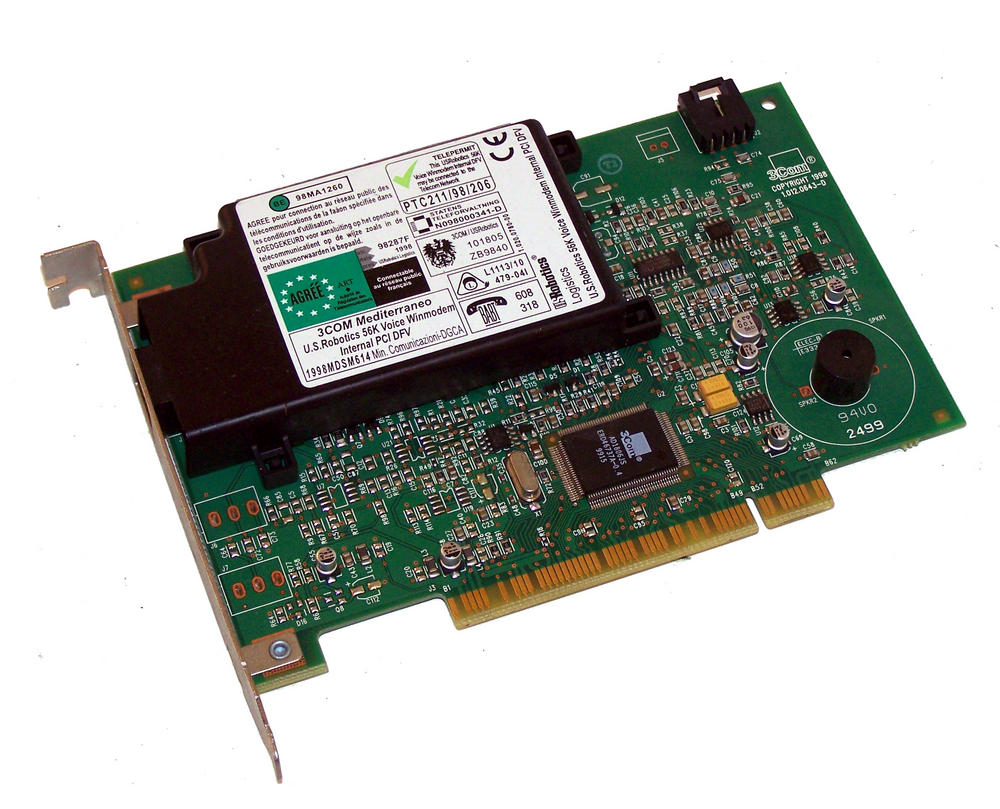 3Com 1.012.0643-D PCI DFV 56K Voice Winmodem Card