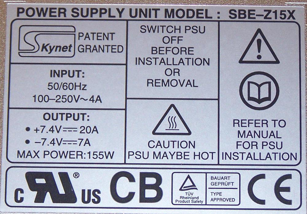 Snell & Wilcox SPX-0149 IQH3A 155W Power Supply | Skynet SBE-Z15X Thumbnail 2