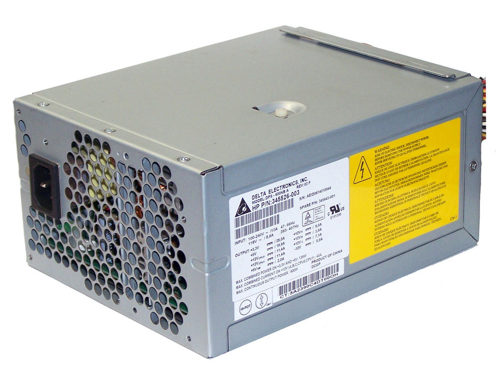 HP 345526-003 Workstation xw8200 600W Power Supply | SPS 345643-001 DPS-600NB A Thumbnail 1