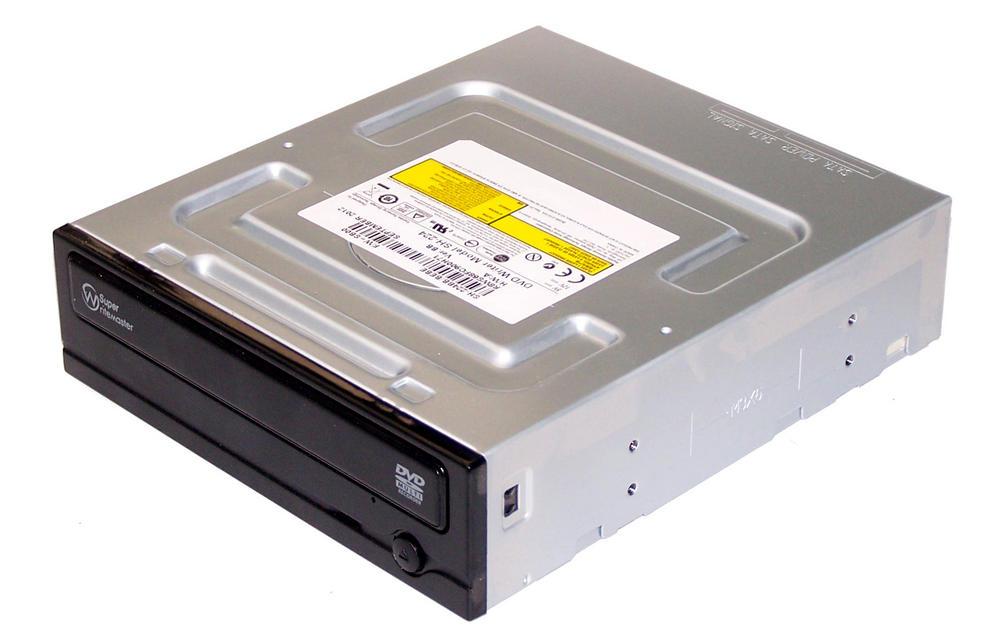 TSST SH-224BB/BEBE SH-224 Half Height SATA DVD Recorder Drive | Black Bezel