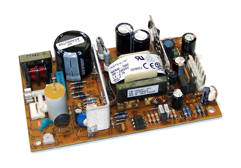Artesyn NAN40-7608 5.1VDC 3A 12VDC 2A -12VDC 0.35A 1U Open Frame Power Supply