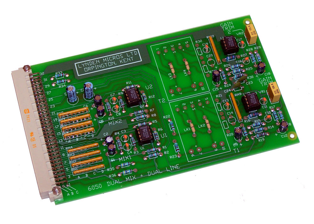 Lynden Micros 6050 Eurocard Dual Mix and Dual Line Card 3x32 DIN 41612