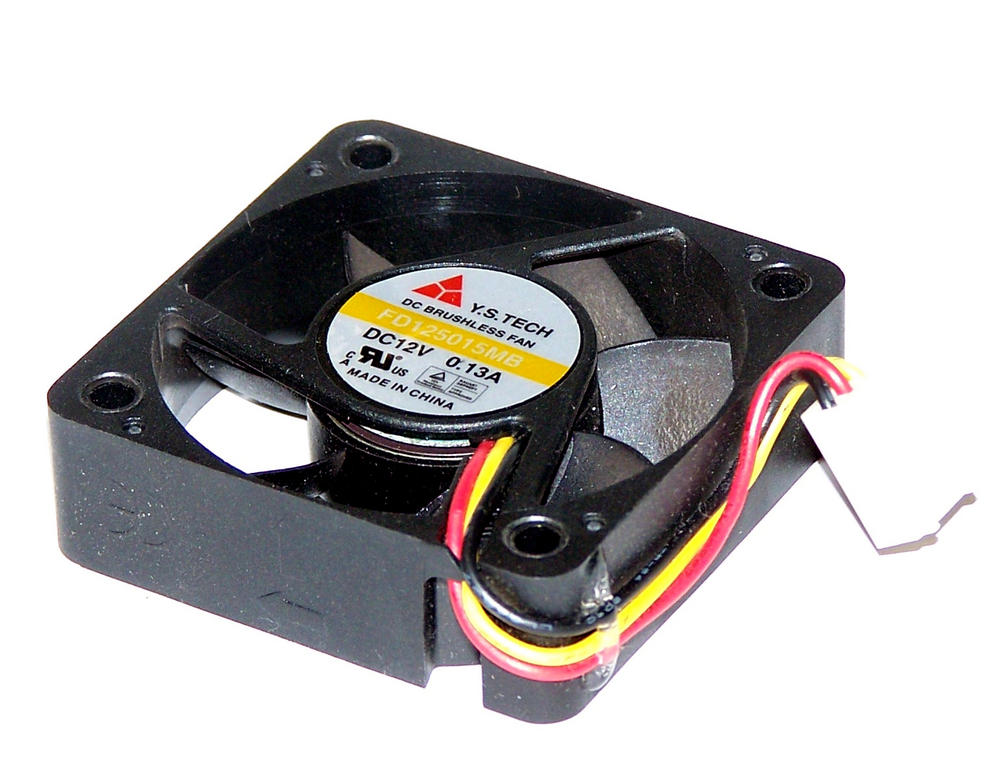 YS Tech FD125015MB  50mm x 15mm 12VDC 0.13A 3-Wire Fan 5cm with 2510 Connector
