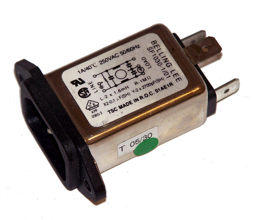 Belling Lee SF1030-1/01IEC C14 1A Line Filter AC Inlet Thumbnail 1