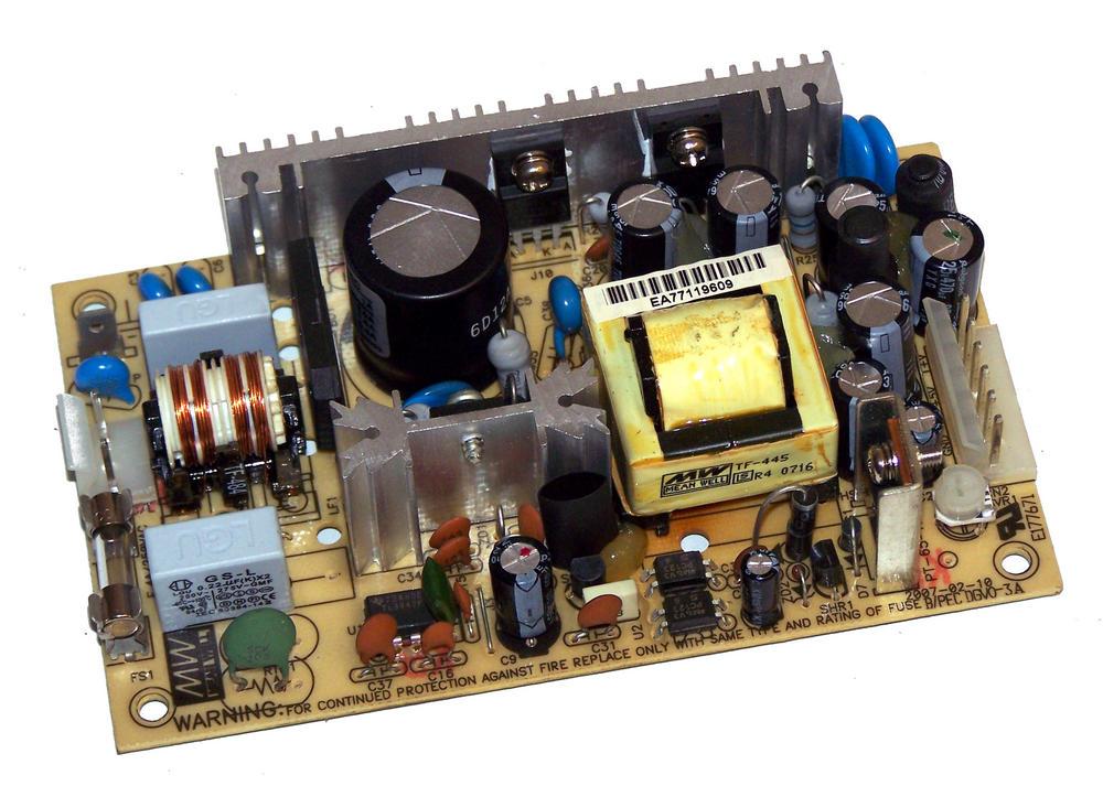 Mean Well PT-45C 5VDC@3A 15VDC@1.6A 1U Open Frame Power Supply Thumbnail 1