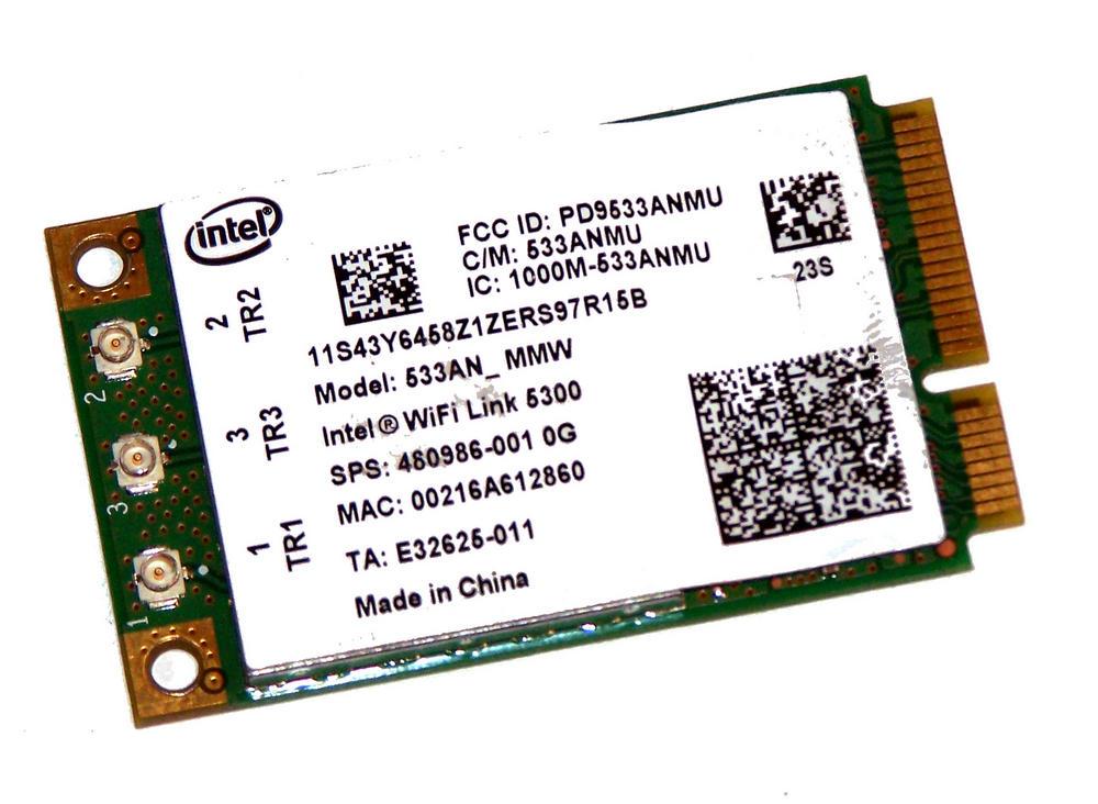 HP 480986-001 Elitebook 8730w WLAN Mini PCIe Card WiFi Intel WiFi Link 5300 abgn Thumbnail 1
