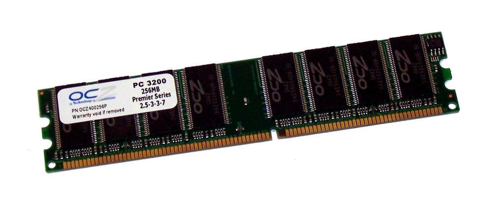 OCZ OCZ400256P (256MB DDR PC3200U 400MHz DIMM 184-pin) Memory Module