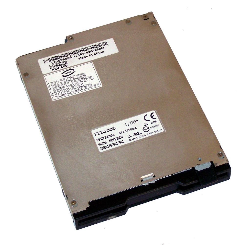 Dell P9566 Slimline 1.44MB Floppy Drive With Black Bezel   MPF820