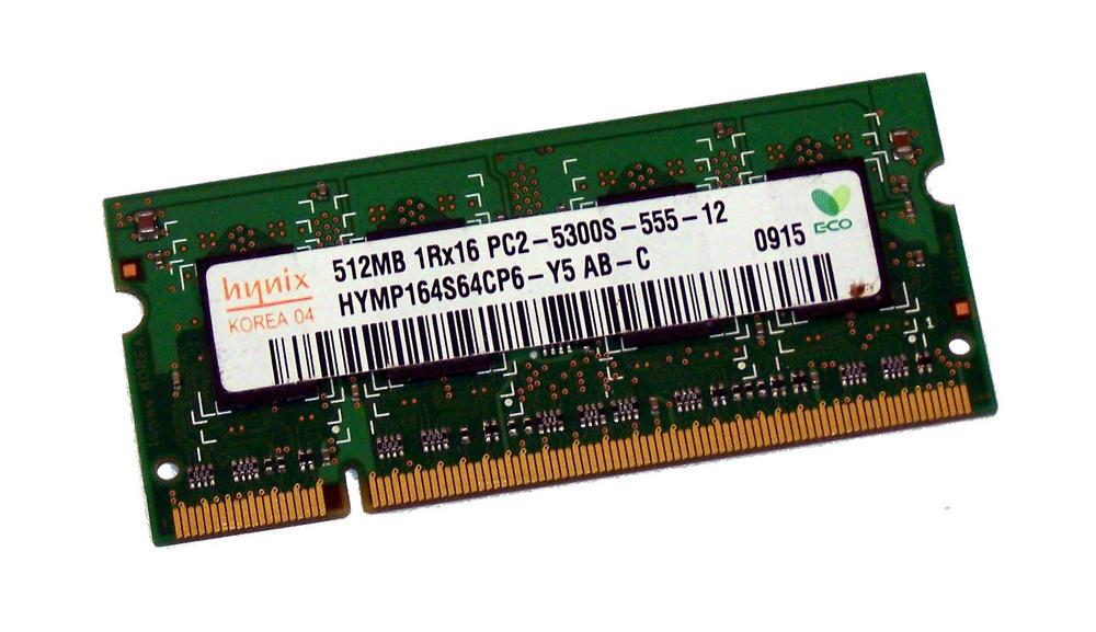 Hynix HYMP164S64CP6-Y5 AB-C (512MB DDR2 PC2-5300S 667MHz SO DIMM 200-pin) Memory
