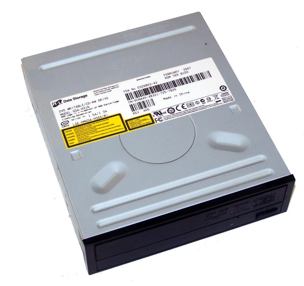 Dell CN449 SATA H/H DVD-RW Drive with Black Bezel | Model GSA-H31N | 0CN449